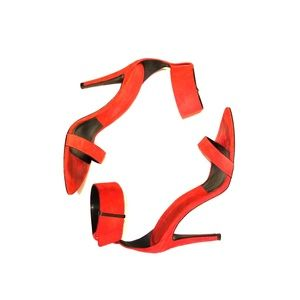 Red Zara Ankle strap heels